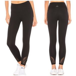 Beyond yoga black high rise mesh ankle leggings